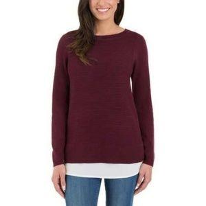 NWOT  Hilary Radley Faux Layered Sweater